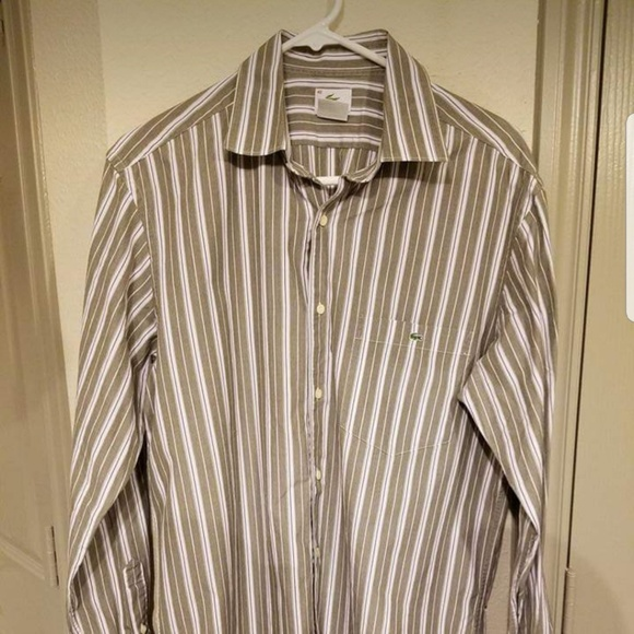 Lacoste Other - Lacoste Mens Vertical Striped Button Down Shirt